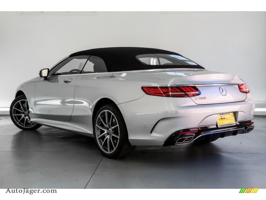 2019 S S 560 Cabriolet - Iridium Silver Metallic / Black photo #10