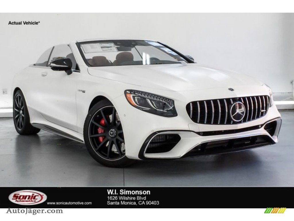 2019 S AMG 63 4Matic Cabriolet - designo Cashmere White (Matte) / designo Saddle Brown/Black photo #1
