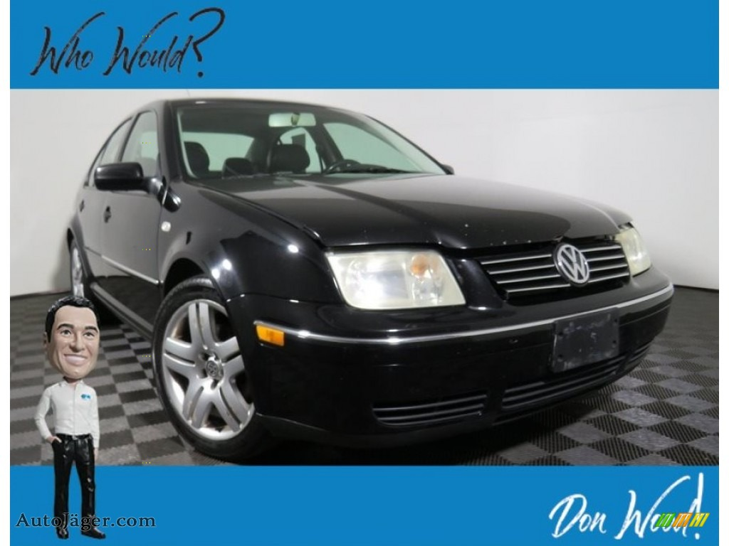 2004 Jetta GLS 1.8T Sedan - Black / Black photo #1