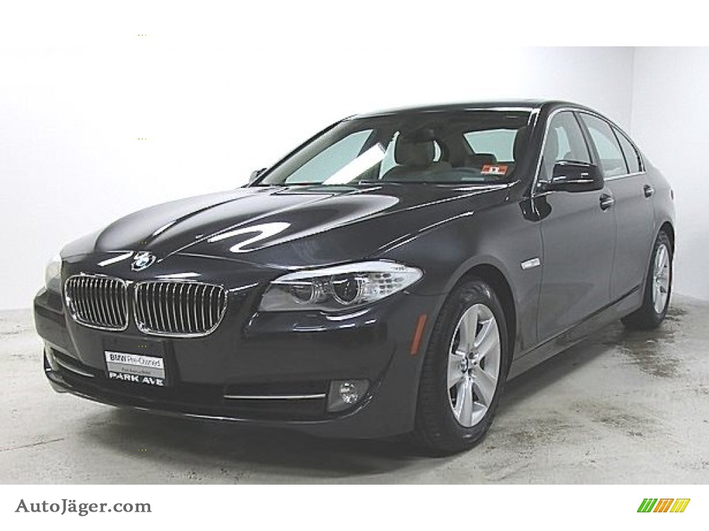 2013 5 Series 528i xDrive Sedan - Dark Graphite Metallic II / Oyster/Black photo #1