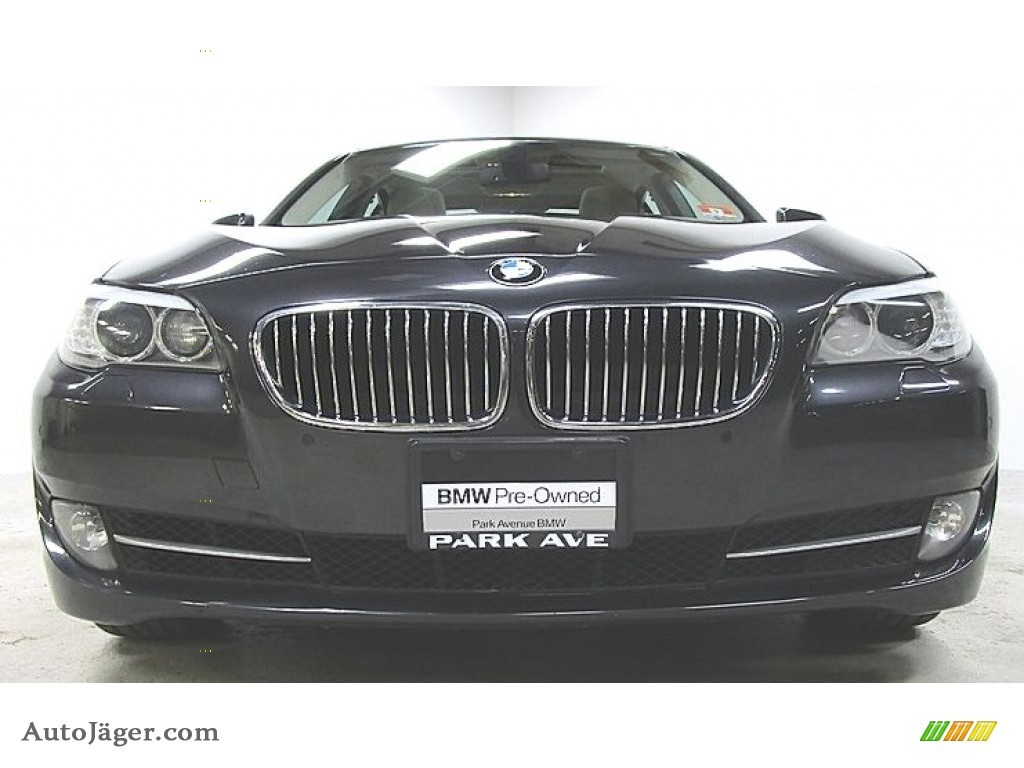 2013 5 Series 528i xDrive Sedan - Dark Graphite Metallic II / Oyster/Black photo #6