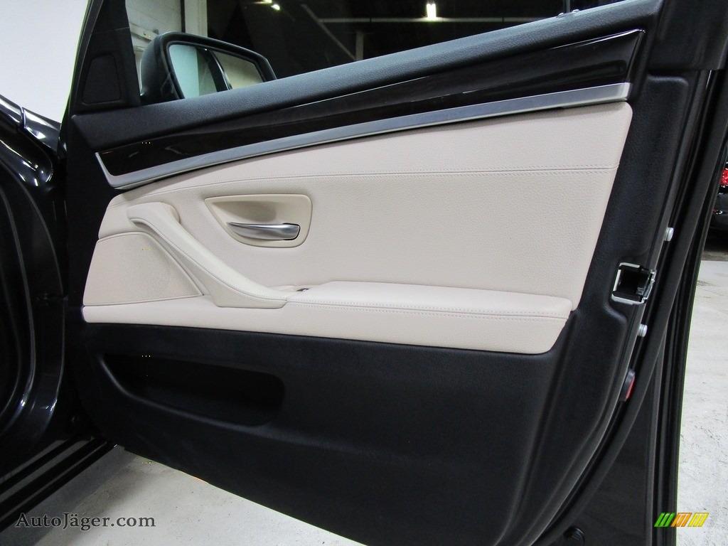 2013 5 Series 528i xDrive Sedan - Dark Graphite Metallic II / Oyster/Black photo #13
