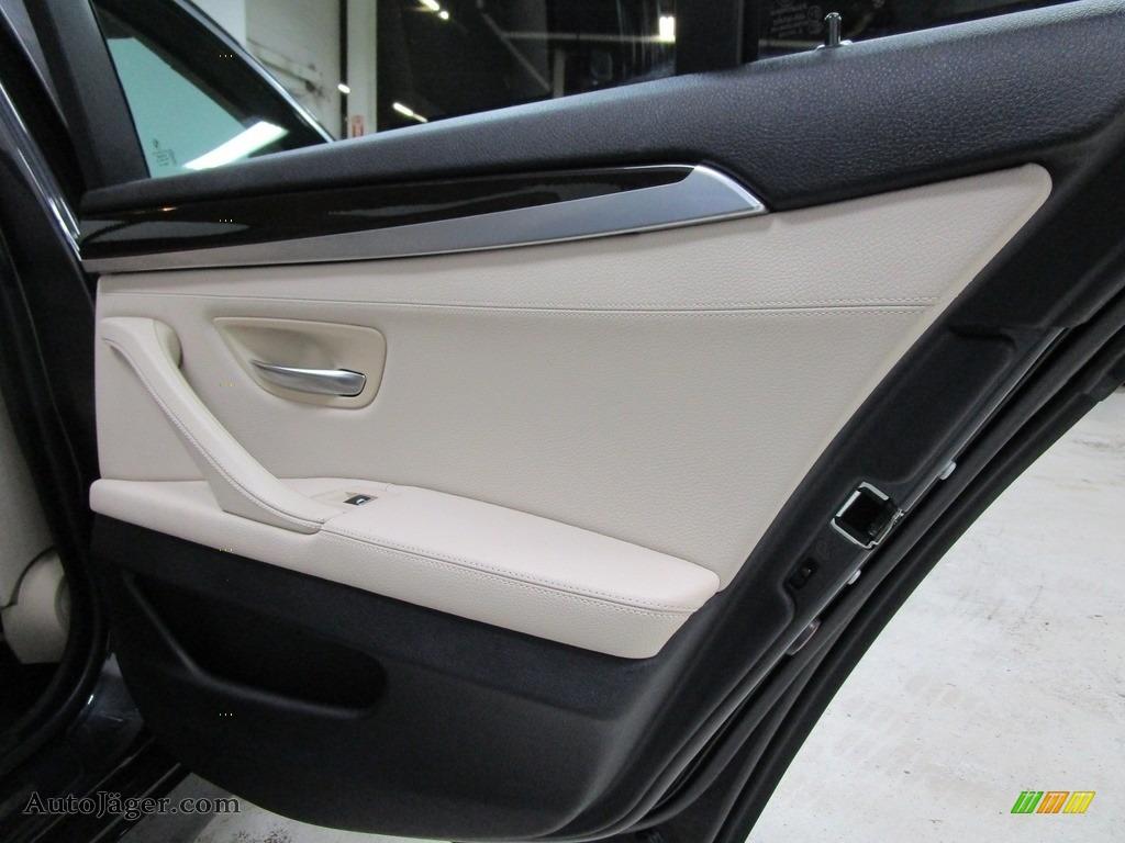 2013 5 Series 528i xDrive Sedan - Dark Graphite Metallic II / Oyster/Black photo #16