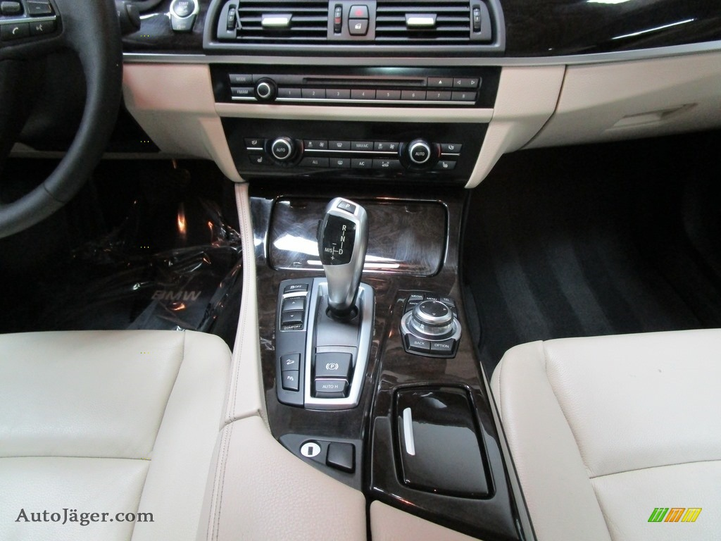 2013 5 Series 528i xDrive Sedan - Dark Graphite Metallic II / Oyster/Black photo #27