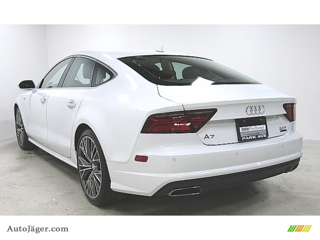 2017 A7 3.0 TFSI Prestige quattro - Ibis White / Black photo #1