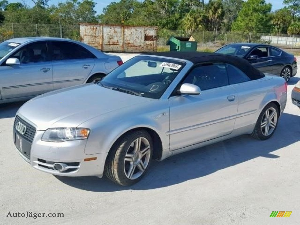 2007 Audi A4 20t Cabriolet In Light Silver Metallic For Sale