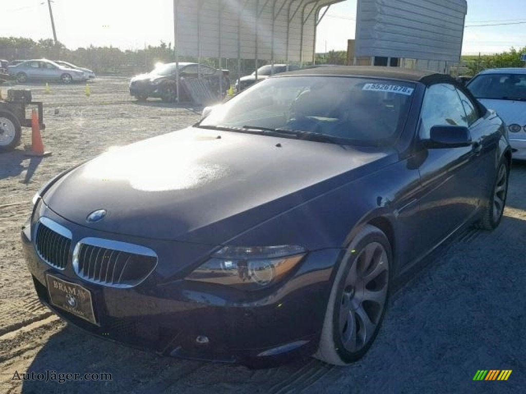 Mineral Silver Metallic / Black BMW 6 Series 650i Convertible