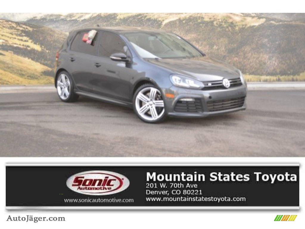 2013 Golf R 4 Door 4Motion - Deep Black Pearl Metallic / Titan Black photo #1
