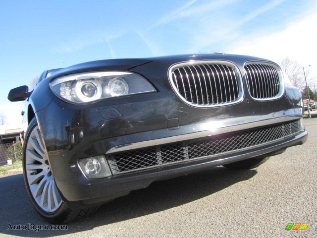 2009 7 Series 750Li Sedan - Black Sapphire Metallic / Oyster/Black Nappa Leather photo #1