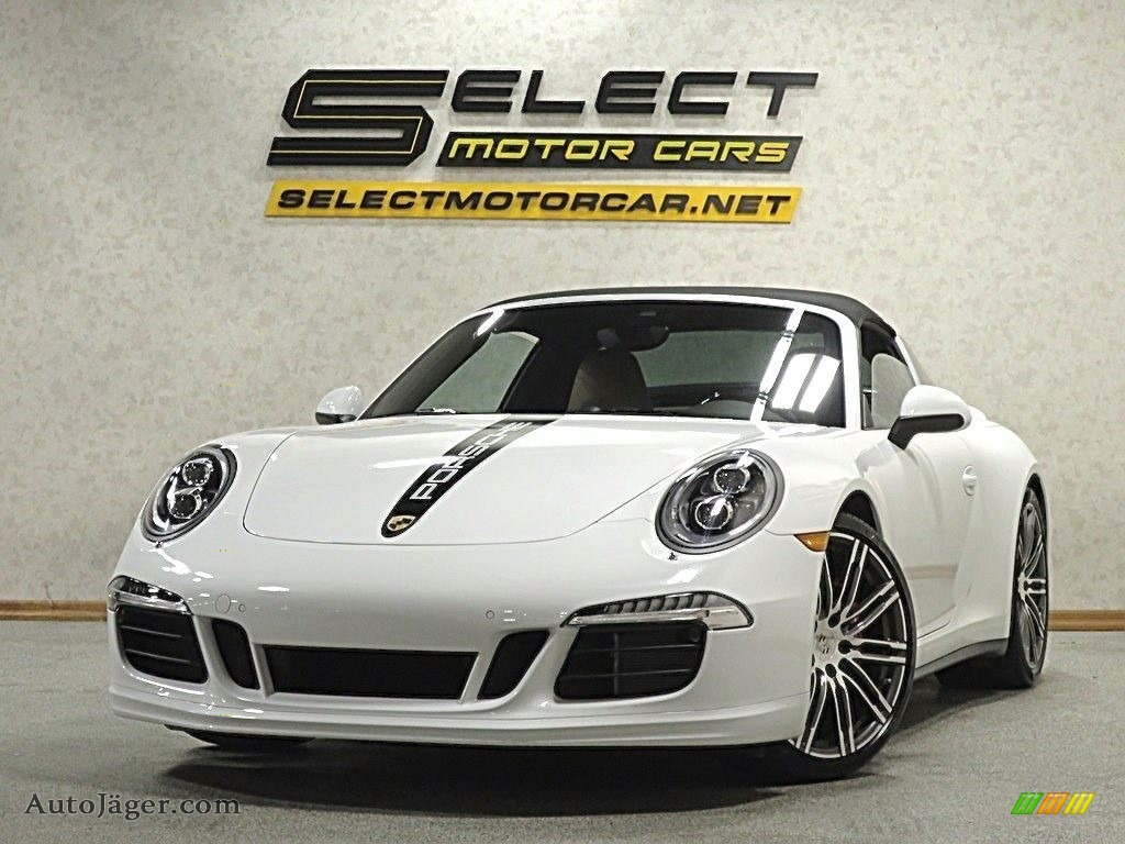 2015 911 Targa 4S - White / Espresso/Cognac Natural Leather photo #1