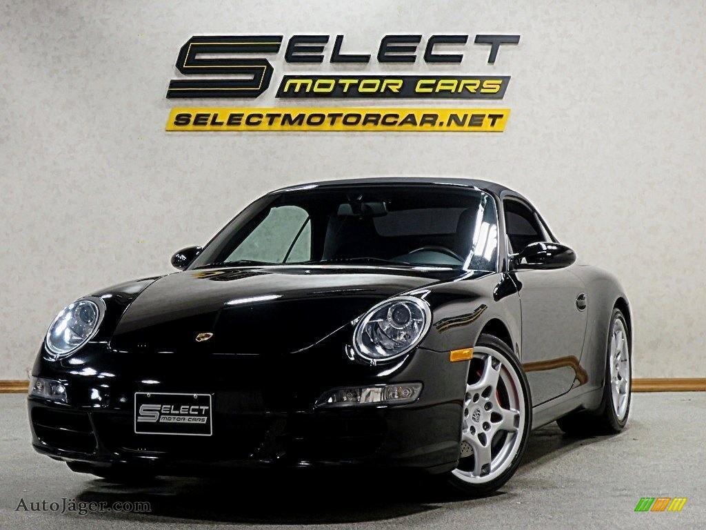 2007 911 Carrera S Cabriolet - Black / Black photo #1