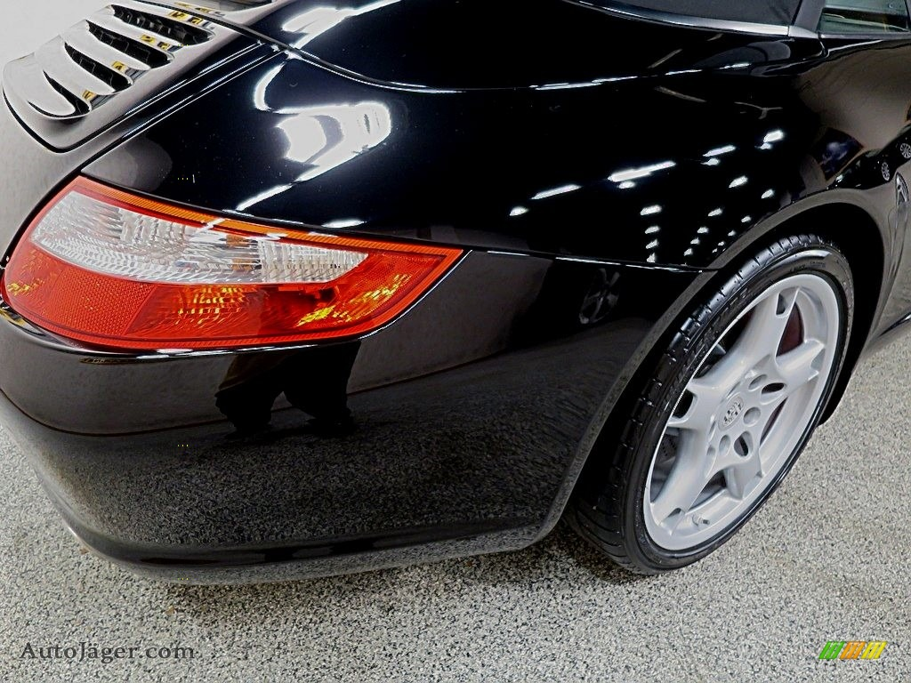 2007 911 Carrera S Cabriolet - Black / Black photo #10