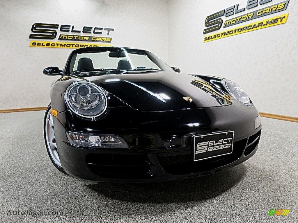 2007 911 Carrera S Cabriolet - Black / Black photo #13