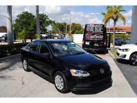 Black 2016 Volkswagen Jetta S
