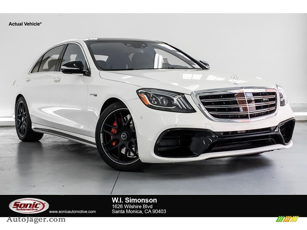2019 S AMG 63 4Matic Sedan - designo Diamond White Metallic / Black photo #1