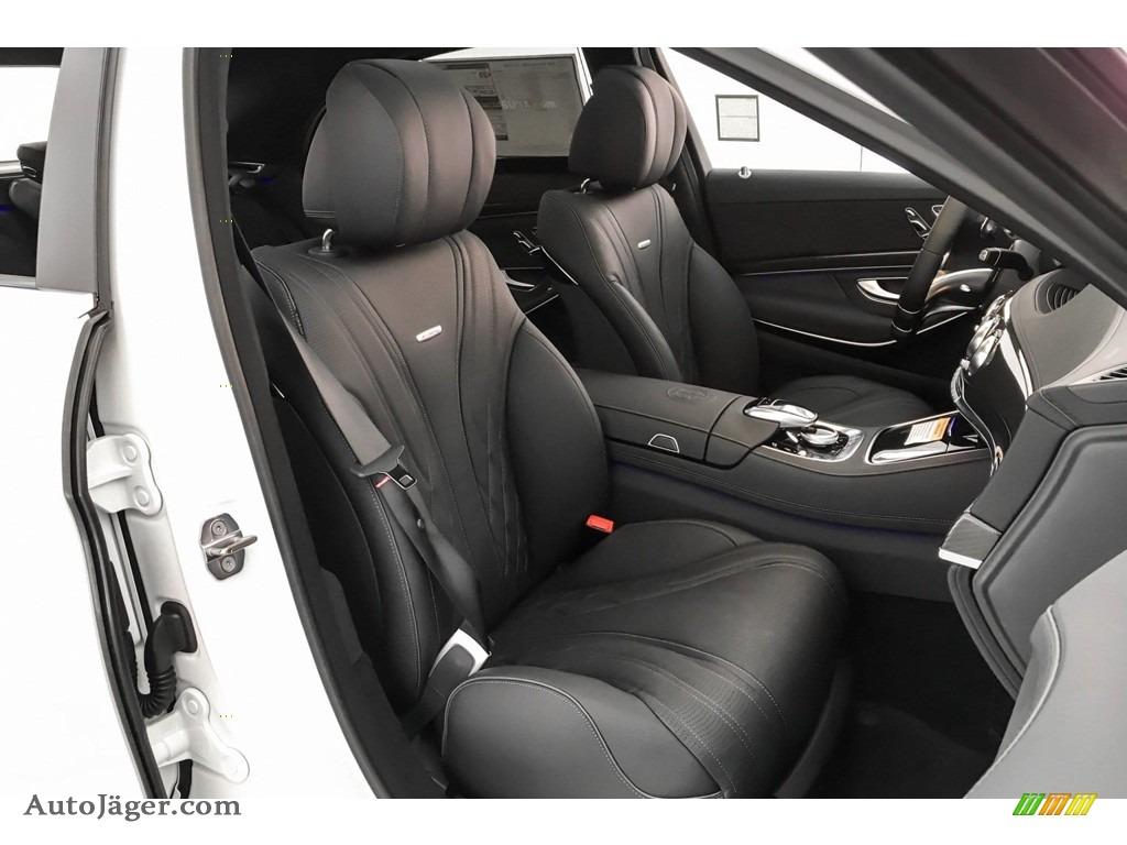 2019 S AMG 63 4Matic Sedan - designo Diamond White Metallic / Black photo #6