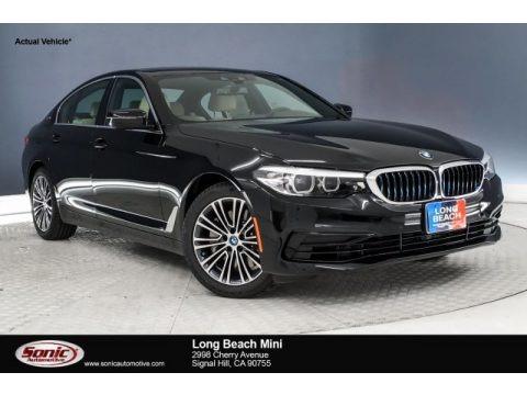 Jet Black 2019 BMW 5 Series 530e iPerformance Sedan
