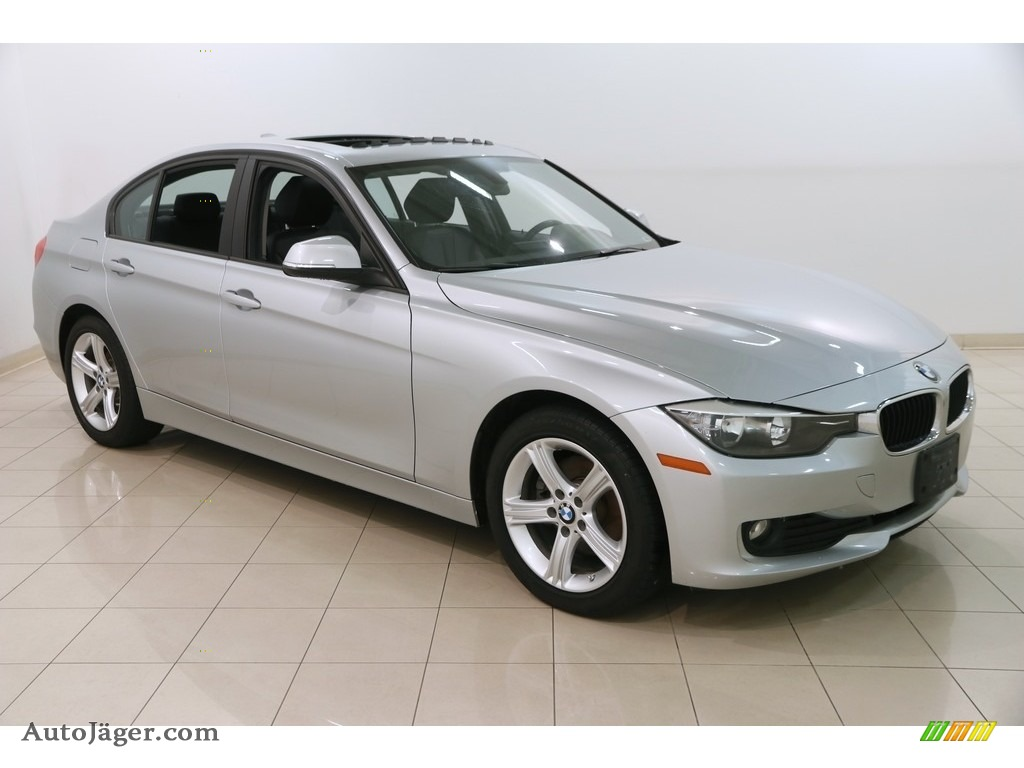 2015 3 Series 320i xDrive Sedan - Glacier Silver Metallic / Black photo #1