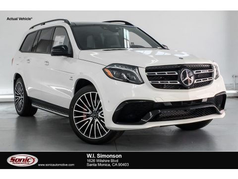 designo Diamond White Metallic 2019 Mercedes-Benz GLS 63 AMG 4Matic