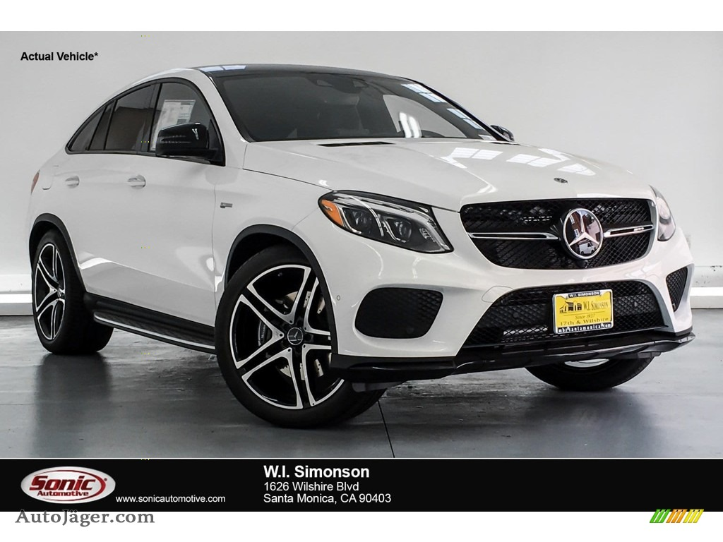 2019 GLE 43 AMG 4Matic Coupe - Polar White / Black photo #1