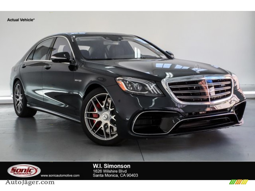 2019 S AMG 63 4Matic Sedan - Magnetite Black Metallic / Magma Grey/Espresso Brown photo #1