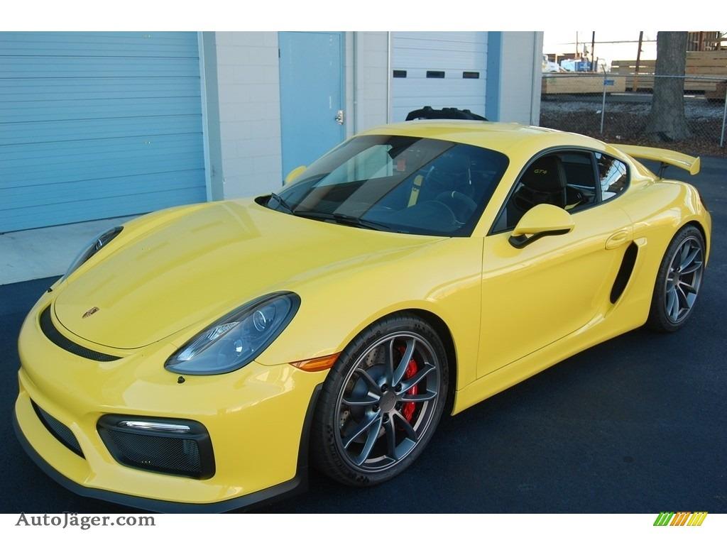 2016 Cayman GT4 - Racing Yellow / Black photo #1