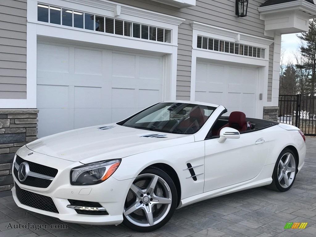 2014 SL 550 Roadster - Diamond White Metallic / Red/Black photo #1