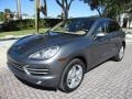 Porsche Cayenne Diesel Meteor Grey Metallic photo #1