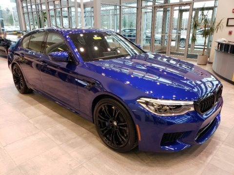 Marina Bay Blue metallic 2019 BMW M5 Sedan