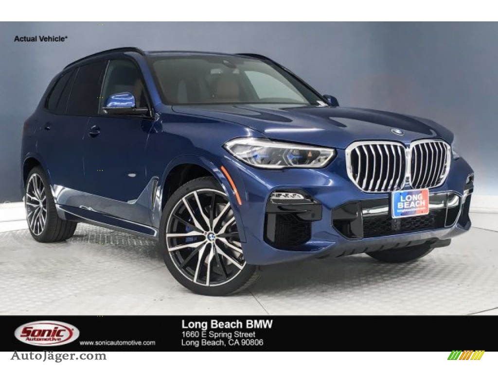2019 X5 xDrive50i - Phytonic Blue Metallic / Tartufo photo #1