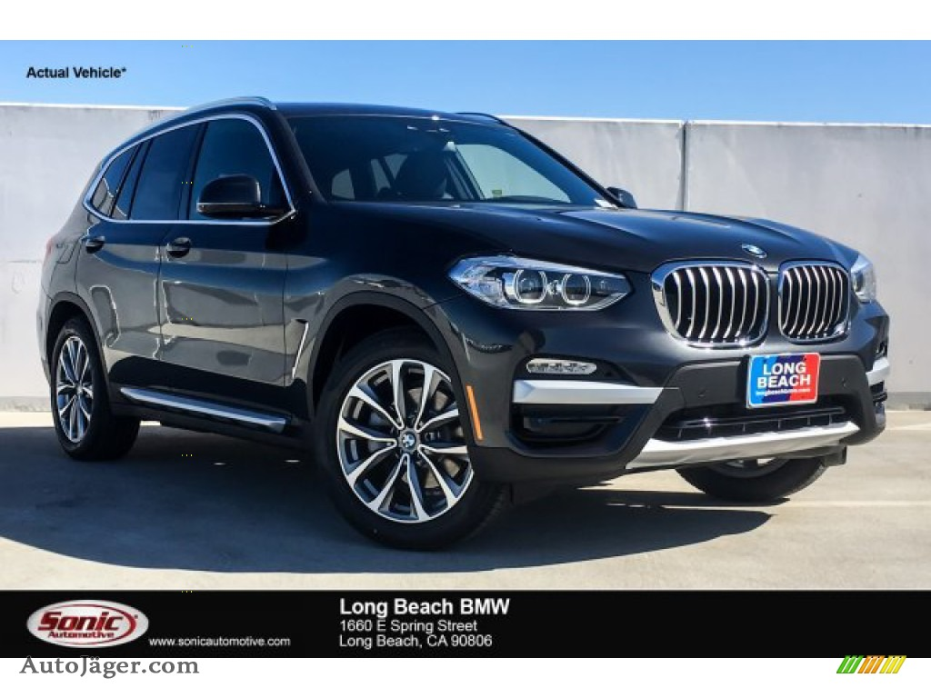 2019 X3 sDrive30i - Dark Graphite Metallic / Black photo #1