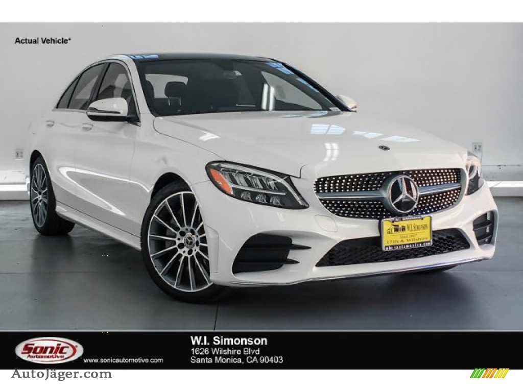 2019 C 300 Sedan - Polar White / Black photo #1