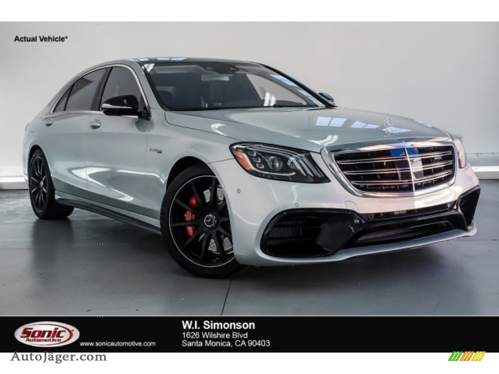 Iridium Silver Metallic / Magma Grey/Espresso Brown Mercedes-Benz S AMG 63 4Matic Sedan