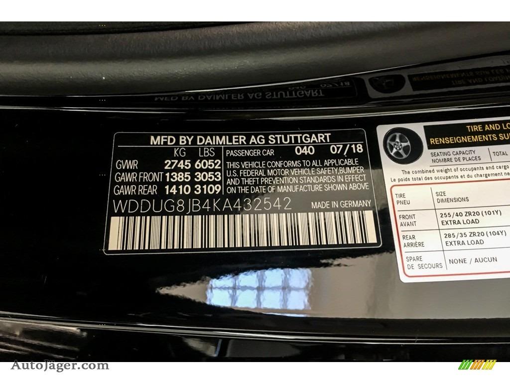 2019 S AMG 63 4Matic Sedan - Black / Black photo #10