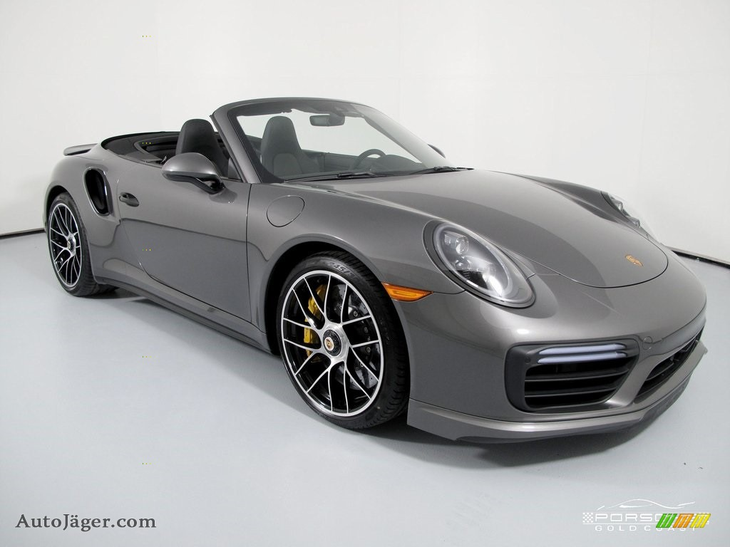 2019 911 Turbo S Cabriolet - Agate Grey Metallic / Black photo #1