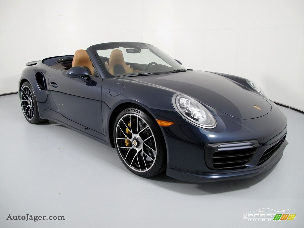 2019 911 Turbo S Cabriolet - Night Blue Metallic / Natural Espresso/Cognac photo #1