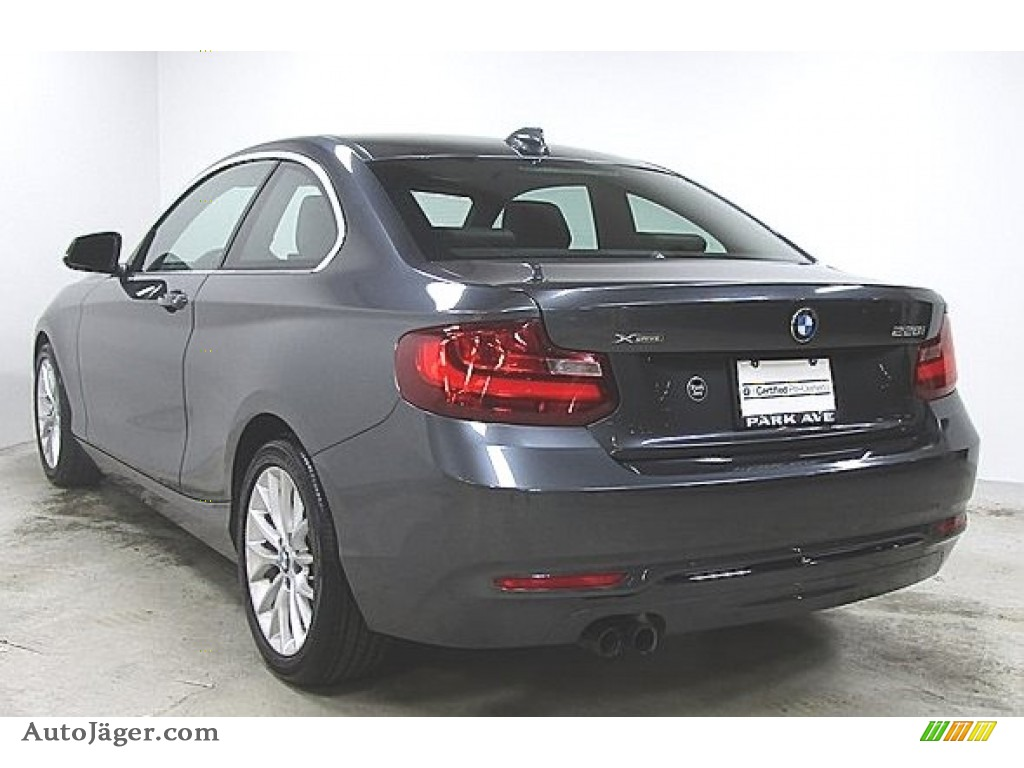 Mineral Grey Metallic / Black BMW 2 Series 228i xDrive Coupe