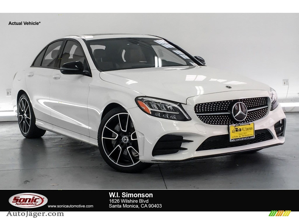2019 C 300 Sedan - Polar White / Silk Beige/Black photo #1
