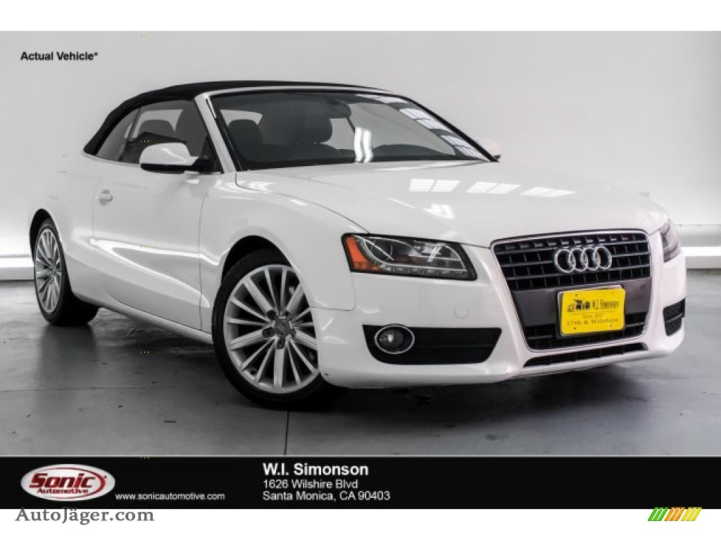 2010 A5 2.0T Cabriolet - Ibis White / Black photo #1
