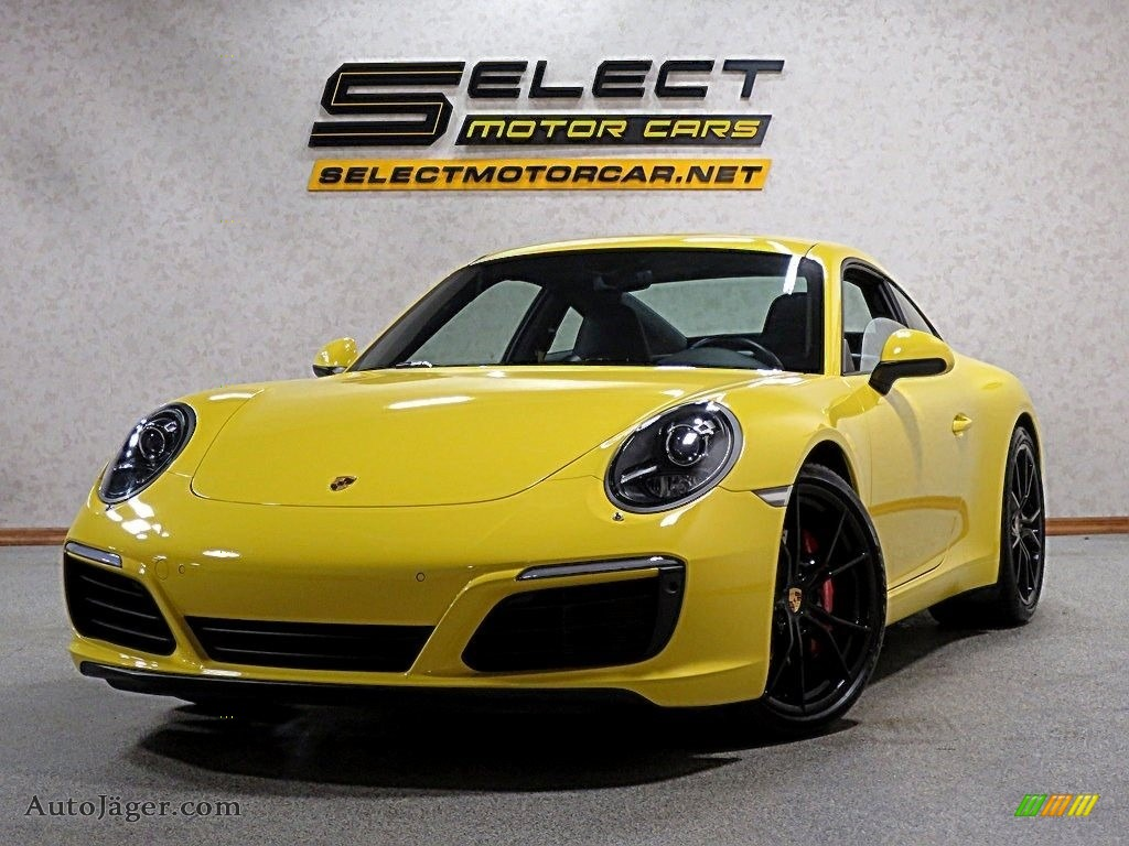 2017 911 Carrera S Coupe - Racing Yellow / Black/Bordeaux Red photo #1