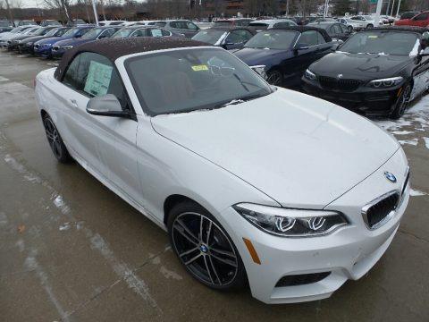 Mineral White Metallic 2019 BMW 2 Series M240i xDrive Convertible