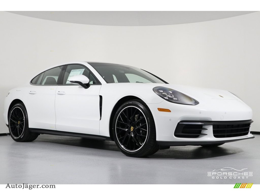 2019 Panamera 4 - White / Black photo #1