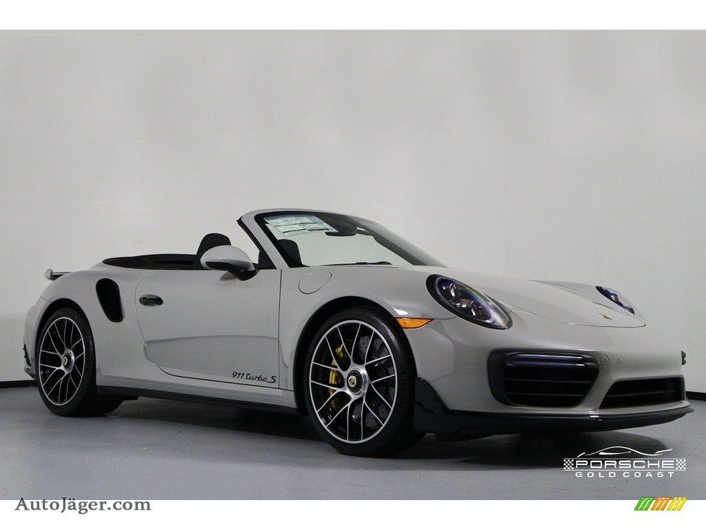 2019 911 Turbo S Cabriolet - Chalk / Black photo #1