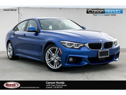 Estoril Blue Metallic 2019 BMW 4 Series 440i Gran Coupe
