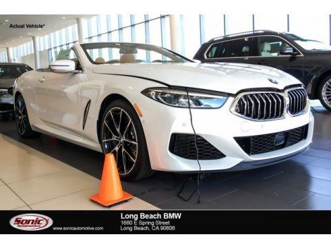 Mineral White Metallic 2019 BMW 8 Series 850i xDrive Convertible