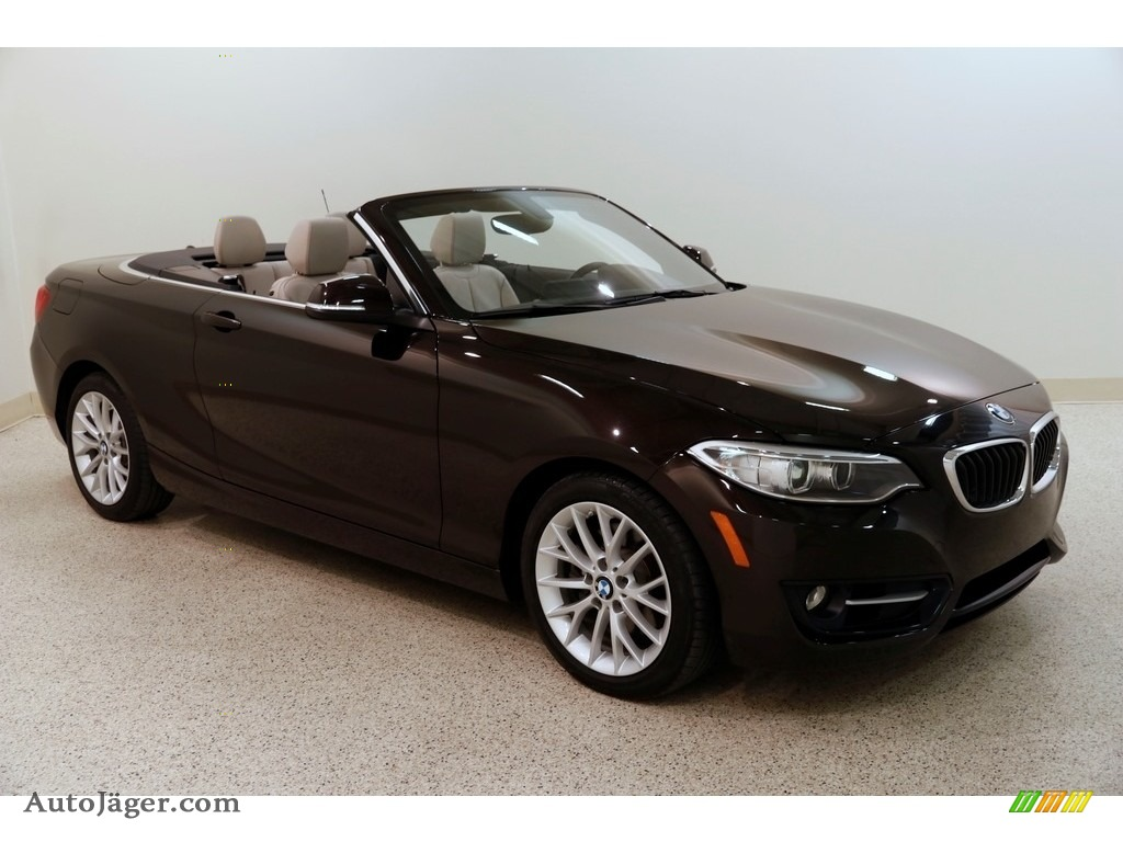2016 2 Series 228i xDrive Convertible - Sparkling Brown Metallic / Oyster photo #1