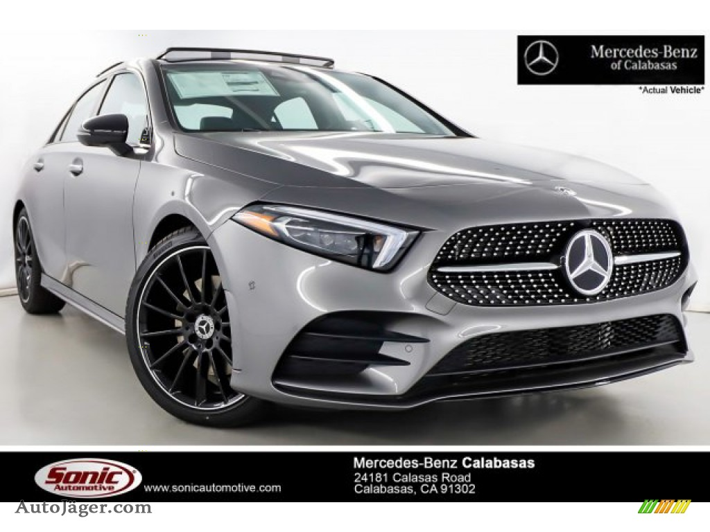 2019 A 220 Sedan - Mountain Grey Metallic / Neva Grey/Black photo #1