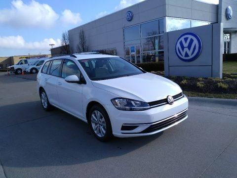 Pure White 2019 Volkswagen Golf SportWagen S 4Motion