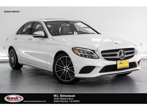Polar White 2019 Mercedes-Benz C 300 Sedan