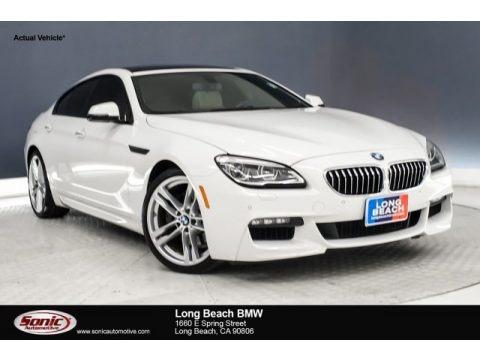 Alpine White 2016 BMW 6 Series 640i Gran Coupe